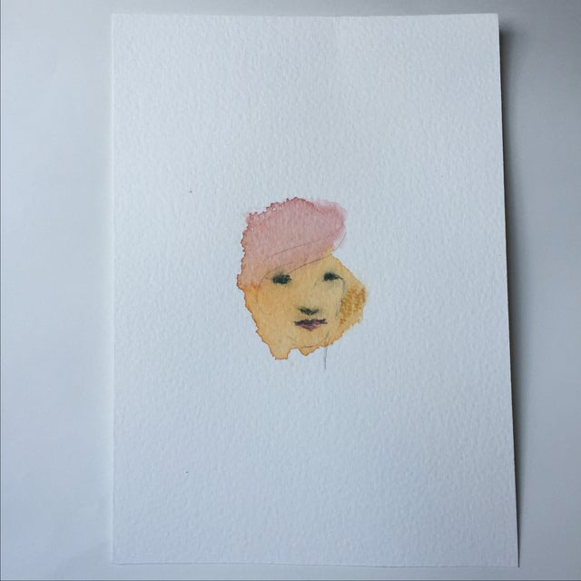 Image of Watercolor Face by Lori Fox