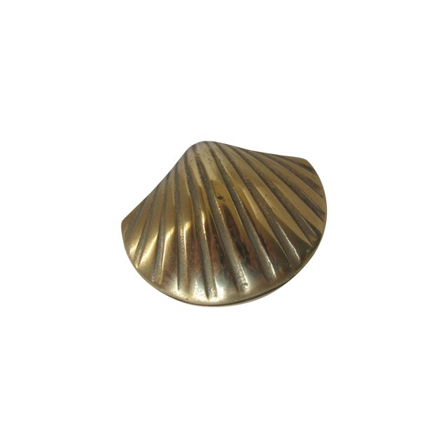 Brass Scallop Trinket Box - Image 1 of 3