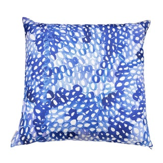 Lupine Blue Linen Pillow