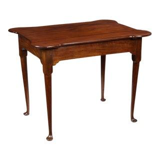 Queen Anne Mahogany Porringer Tea Table