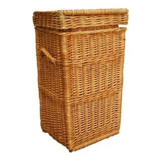 Vintage Tall Wicker Picnic Basket