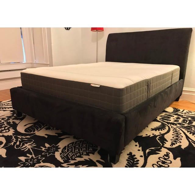 Image of Crate & Barrel Upholstered Queen Bed Frame