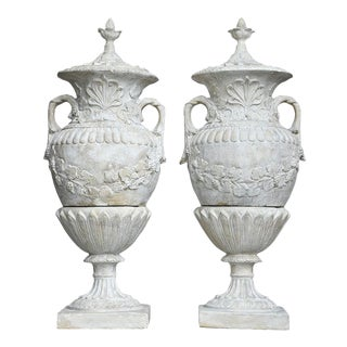 Pair of Grand Neoclassical-style Patio Urns