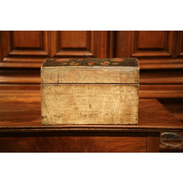 18th Century French Painted Trunk with Birds and Flowers from Normandy - Image 6 of 8