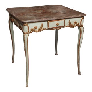 19th Century French Painted & Gilded Table