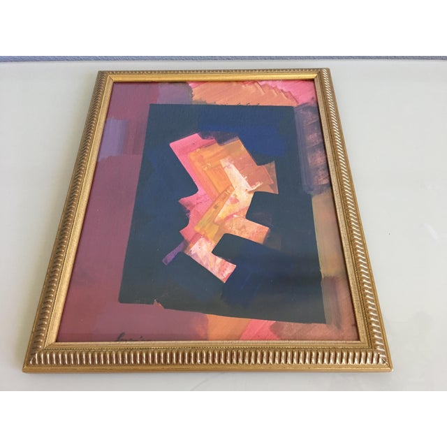 Erle Loran Abstract Gouache - Image 3 of 6