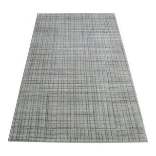 Grey Contemporary Neutral Rug - 5′ × 8′