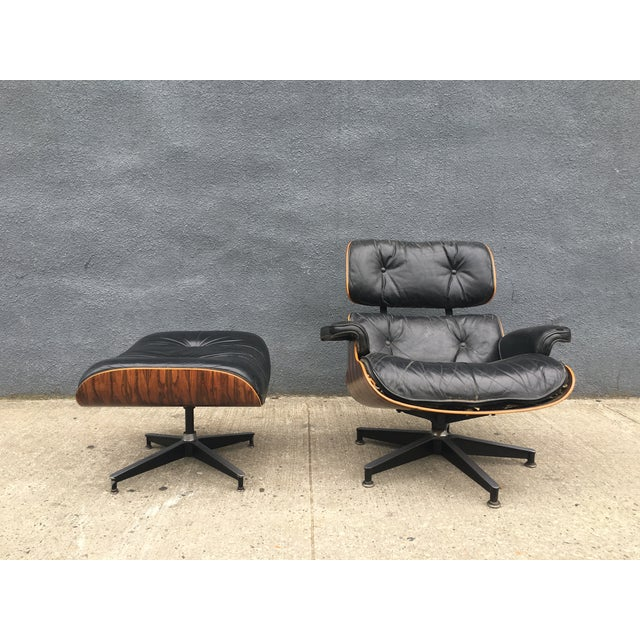 Eames Lounge Chair & Ottoman in Brazilian Rosewood - Image 5 of 10