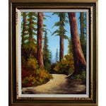 """Image of """"California Redwoods Trail"""" Oil Painting"""