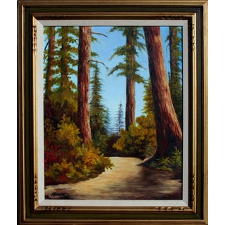 """""""California Redwoods Trail"""" Oil Painting"""
