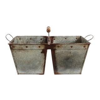 Vintage Galvanized Bucket Planter