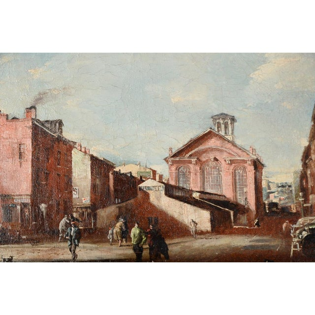 French Impressionist Street Scene Oil Painting - Image 3 of 10