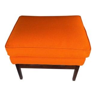 Milo Baughman for James Inc. Orange Ottoman
