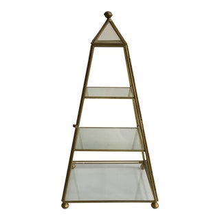 Brass & Glass Obelisk Shadow Box
