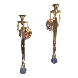 Elegant Russian Style Sconces - A Pair