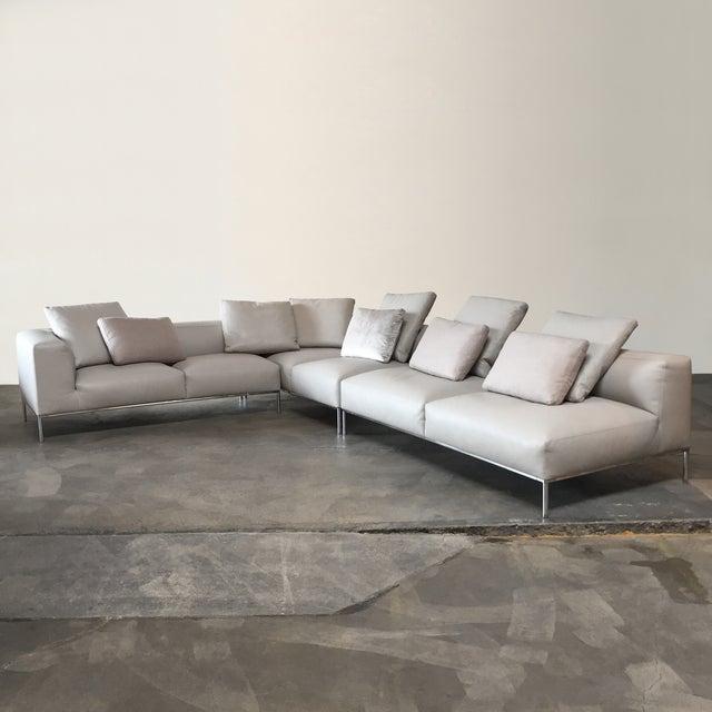 B&B Italia 'Frank' Leather Sectional - Image 2 of 8