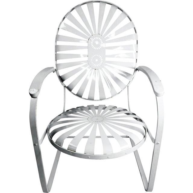 Francois Carre Vintage Sunburst Cantilevered Chairs - A Pair - Image 2 of 11