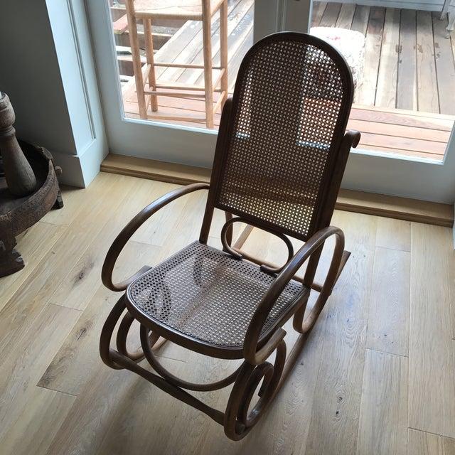 Spanish Bentwood Rocking Chair Rocker - Image 7 of 10
