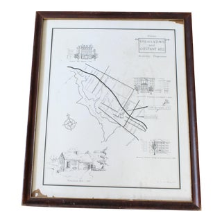 Germantown & Chestnut Hill Medically Progressive Map, Framed