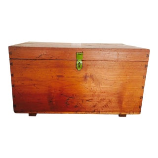 Burmese Handmade Teak Chest