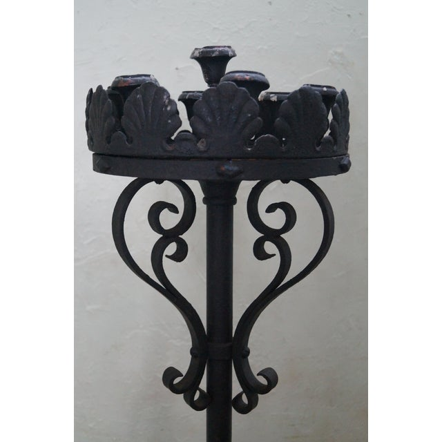 Image of Quality Wrought Iron Torchieres Candle Holders