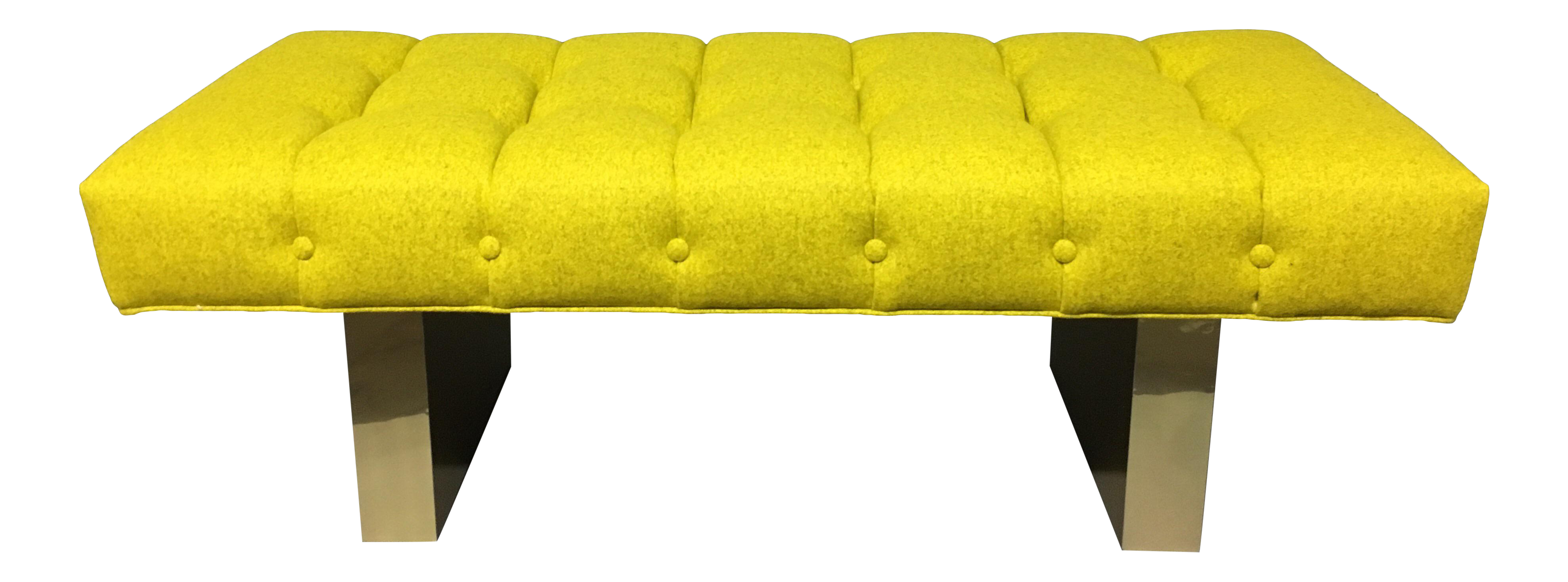 Mid-Century Modern Bright Yellow Tufted Bench on Brass Base  sc 1 st  Chairish & Vintage u0026 Used Stools | Chairish islam-shia.org