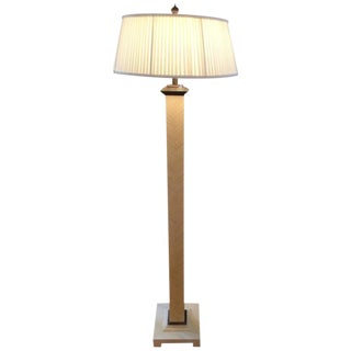 Tessellated Bone & Enameled Metal Base Floor Lamp