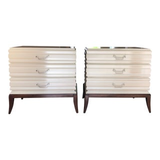 Pearlescent White Swaim Nightstands - A Pair