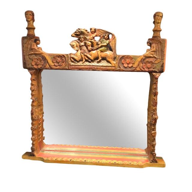 Jo Meade Striking Artisan Carved Mirror - Image 1 of 5