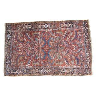 Vintage Heriz Carpet- 6′ × 9′4″