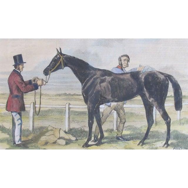 Image of Original British Equestrian Print, Circa 1860
