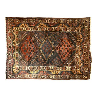 Tribal Afshar Rug - 4' x 4'7''