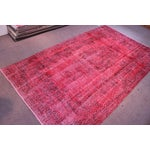"Image of Vintage Turkish Red Overdyed Rug - 6'2"" X 10'3"""
