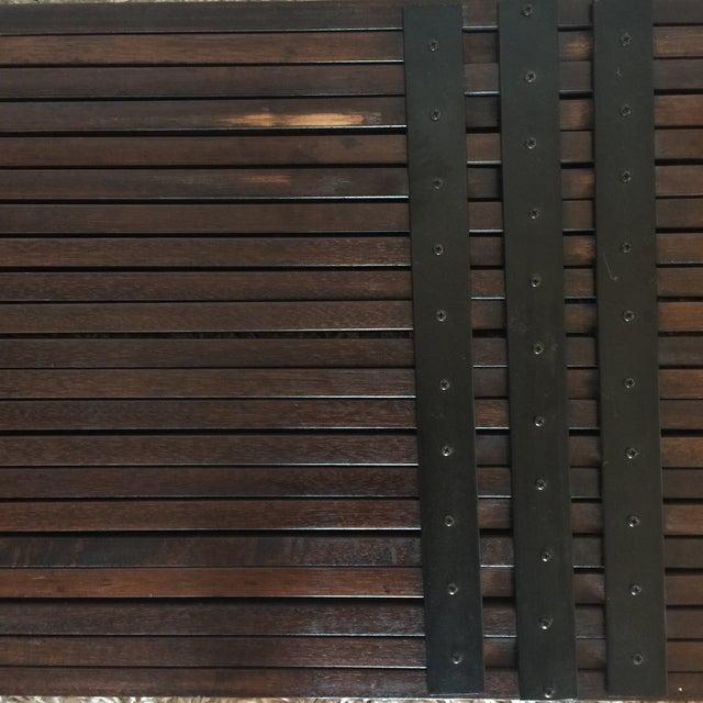 Image of Brown Saltman Mid-Century Expandable Slat Bench