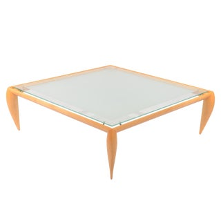 Leggins Square Glass Top Coffee Table by Brueton