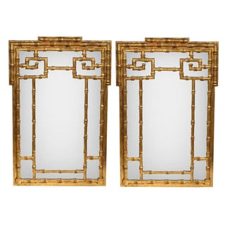 La Barge Faux-Bamboo Mirrors - Pair