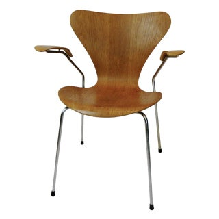 Three Arne Jacobsen Series Seven-Arm Chairs for Fritz Hansen