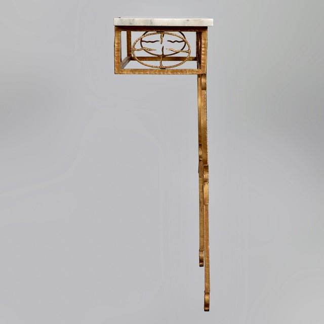 Spanish Wall Hung Console with Gilt Metal and Marble Top - Image 3 of 8
