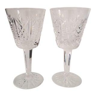 Crystal Waterford Wine Glasses - A Pair