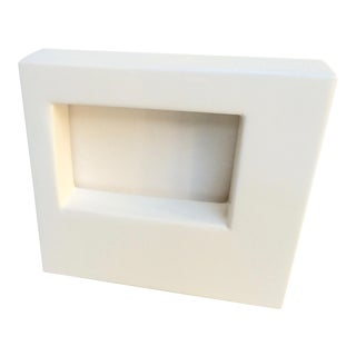 Jonathan Adler White Lacquer Photo Frame