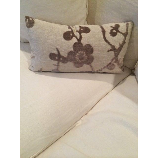 Lee Jofa Floral Flocking Pillow - Image 3 of 3