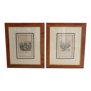 Antique French Engraving - a Pair