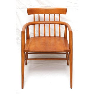 1960s Paul McCobb Armed Wood Dining Chairs - A Pair