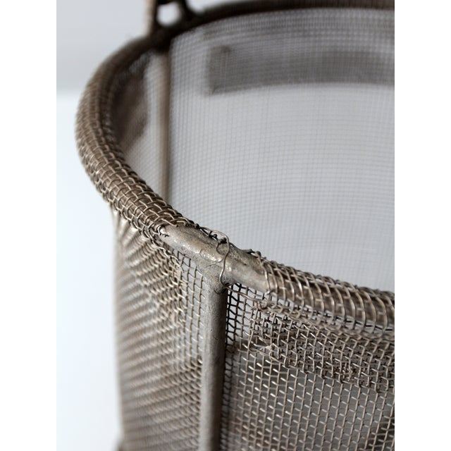 Image of Vintage Wire Mesh Bucket With Handle