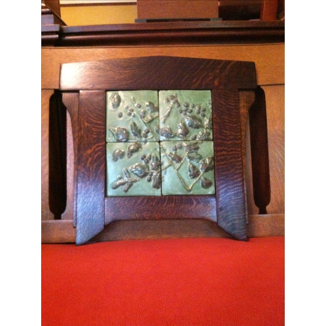 Contemporary Arts And Crafts Ceramic Framed Tile - Image 4 of 6