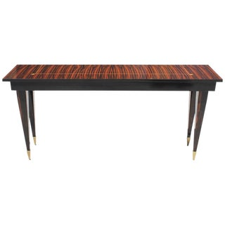 Beautiful French Art Deco Exotic Macassar Console Table, circa 1940s
