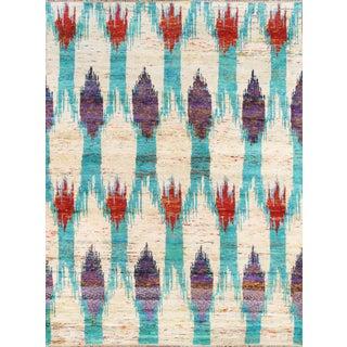 Contemporary Sari Silk Modern Design Rug - 5' X 8'
