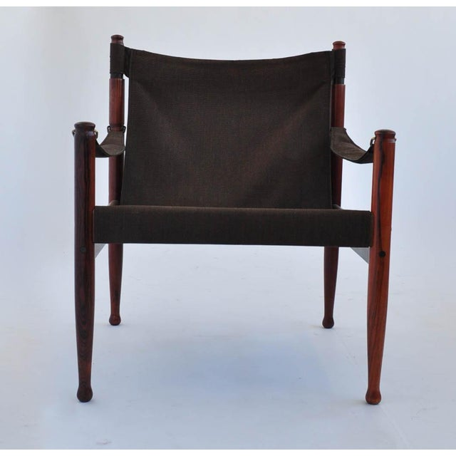Image of Erik Worts Rosewood Safari Sling Chair - Pair