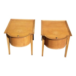 Vintage Pair Mid Century Modern Tomlinson 'American Informal' End Tables Night Stands