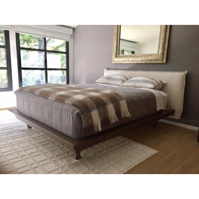 Modern Designer Upholstered Queen Bedframe - Image 5 of 5